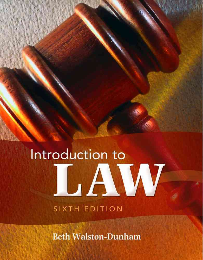 Introduction to Law By Walston-Dunham, Beth